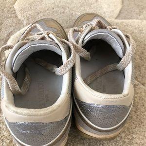 74e84a0e85c0 Louis Vuitton Shoes - Louis Vuitton Metallic canvas and leather sneaker